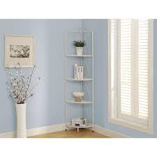 corner cabinet bookcase monarch 4 shelf corner display i 2101 white bookcases
