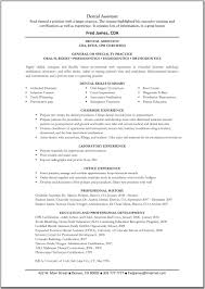 Resume Sle For Assistant Internship Cover Letter Dental Nursing Resume Dental Resume Dental