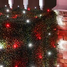 red and white alternating led christmas lights net lights installation guide