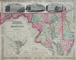 map of maryland johnson map of maryland and delaware 1863 dp