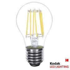 light bulb shape code a19 kodak 60w equivalent warm white a19 clear filament dimmable led