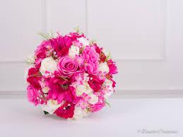 silk bridal bouquet silk bridal posy bouquet in mixed silk flowers fuchsia pink