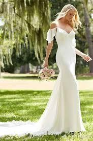 cold shoulder wedding dress 20 flirty cold shoulder wedding dresses happywedd