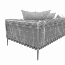 Kettal Outdoor Furniture Kettal Landscape Right Corner Module Sofa 3d Model Max Obj 3ds Fbx Mtl