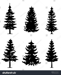 trees sets sillouete stock vector 549735097
