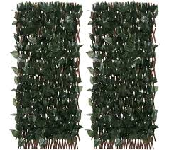 compass home set of 2 expandable faux ivy privacy fences page 1