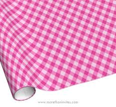 gingham wrapping paper girly pink gingham pattern wrapping paper more than invites