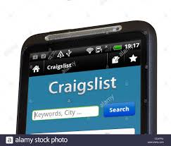 craigslist android app the craigslist android app on an htc smartphone stock photo