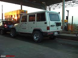 dilip chhabria modified jeep my mahindra armada 2 1 2wd long term report team bhp