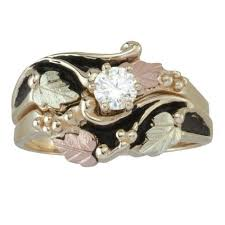 Black Hills Gold Wedding Rings by Womens Rings Black Hills Gold Wedding Set Center Stone From In
