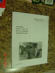 john deere 110 power take off tractor parts assembly catalog