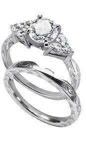 matching wedding rings for him and engagement rings with matching wedding rings