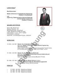 Lebenslauf Vorlage Uni Bewerbung Dipl Ing Elektrotechnik Beispiel Lebenslauf