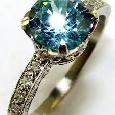 platinum solitaire rings images Blue zircon diamond platinum solitaire ring the jewelers guild jpg