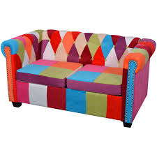 Chesterfield Patchwork Sofa by 2 Seater Fabric Chesterfield Sofa Pathmapp Com