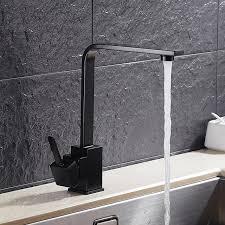 mischbatterie k che schwarz 360 swivel waschbecken mischbatterie küchenarmaturen wasserhahn