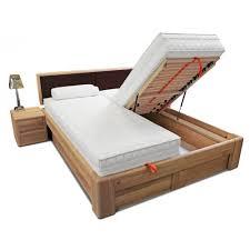 Schlafzimmer Betten Mit Bettkasten Verona Bett 200x200 Kernbuche Kopfteil Braun Mit Bettkasten Und