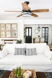 Ceiling Fans For Living Rooms Living Room Update Ceiling Fan Caneel Bay Industrial