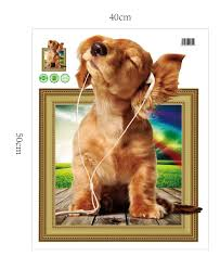 aliexpress com buy cute animals dog puppy 3d wall stickers home