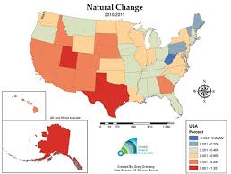 map us states population is the united states population heading to term deceleration