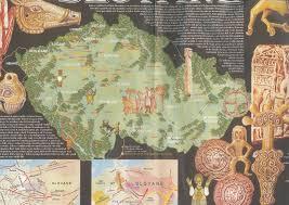 Map Of Czech Republic Map Of Czech Republic With Medieval Slavic Tribes Early Slavs
