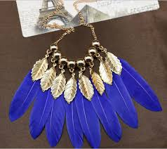 aliexpress vintage necklace images Handmade feather necklaces for women vintage necklaces pendants jpg