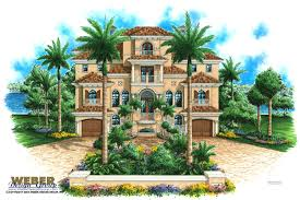 House Plans Coastal Massive Mediterranean House Plan Great For A Narrow Lot With