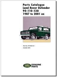 land rover defender 90 110 130 parts catalogue 1987 2006 paddock