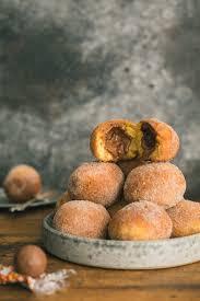 thanksgiving chocolates pumpkin brioche donuts with molten chocolate truffle center the
