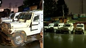 indian police jeep grenade attack outside police station in srinagar kills 1 civilian