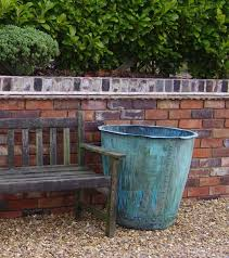 handmade copper garden planter log box