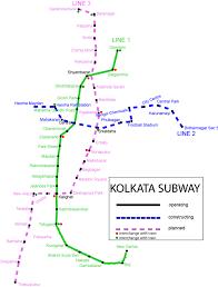 Map Of Metro by Metro Railway Calcutta Metro Map India