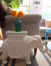 elephant end tables ceramic tag sale pair of ceramic elephant side tables the pursuit of style