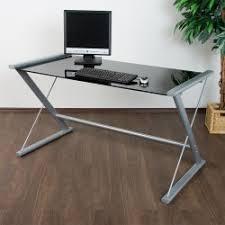 table de bureau en verre d ordinateur de bureau en verre noir