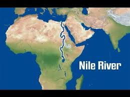 nile river on map the nile river