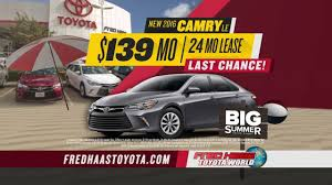 new toyota deals fred haas toyota world big summer sales event car deals youtube