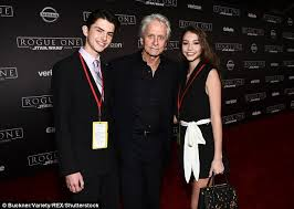 target sparticus black friday speech michael douglas 72 takes his teenage children to rogue one
