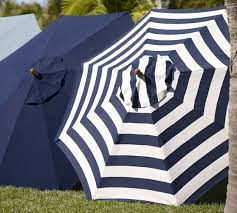 Blue And White Striped Patio Umbrella Replacement Umbrella Canopy Pottery Barn