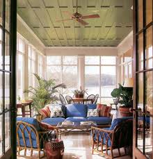 a porch with color green ceiling outdoor rooms pinterest