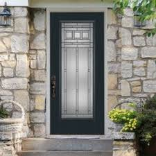 Prehung Exterior Doors Lowes 36 In X 80 In Oakville Lite Painted Smooth Fiberglass