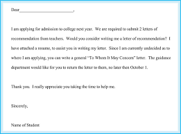 letters of recommendation for student personal scholarship