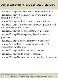 top 8 mis executive resume samples
