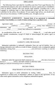 sample indemnity agreement money loan agreement sample year to
