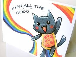 Nyan Cat Memes - nyan cat meme funny blank greeting card notecard by rainbowofcrazy