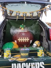 trunk or treat football theme love my packers party ideas