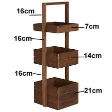 Tiered Bathroom Storage Tier 90cm Three Box Solid Oak Bathroom Storage Stand Caddy
