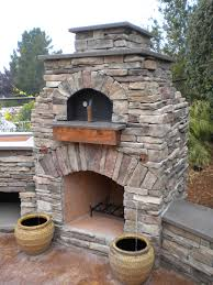 Building An Outdoor Brick Fireplace by Outdoor Lovable Backyard Idea For Summer Natural Stone Pizza
