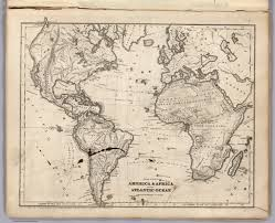 Physical Map Of America by Physical Map Of America U0026 Africa And The Atlantic Ocean David