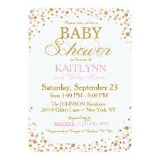 pink and gold baby shower invitations pink baby shower invitations gangcraft net