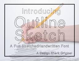 outline sketch creative fabrica